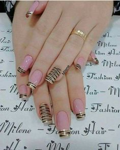 Hey there lovers of nail art! In this post we are going to share with you some Magnificent Nail Art Designs that are going to catch your eye and that you will want to copy for sure. Nail art is gaining more… Read Pink Nail Art, Pink Nails, Gel Nails, Nail Polish, Toenails, Nail Nail, Simple Nail Art Designs, Cute Nail Designs, Easy Nail Art