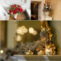 Christmas wedding in 3 locations, 2 parts, 1 story. Ceremony and celebration in Kilquade Church & Tinakilly House. Hotel Reception, Christmas Wedding, Wedding Details, Wedding Photos, Interior Decorating, Bouquet, Table Decorations, House, Home Decor
