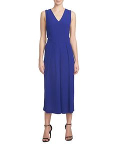 Brands   Jumpsuits & Rompers   Split-Back Chiffon Ruffle Jumpsuit   Lord and Taylor