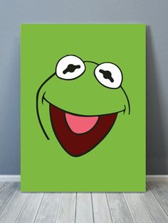 Kermit The Frog Pop Canvas Art - painting ideas on canvas - Simple Canvas Paintings, Easy Canvas Art, Small Canvas Art, Easy Canvas Painting, Mini Canvas Art, Cute Paintings, Abstract Canvas Art, Watercolor Painting, Canvas Draw