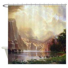 Bierstadt Sierra Nevada Shower Curtain on CafePress.com