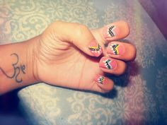 Mani Monday:: Thanksgiving Nails Pocahontas nails tribal nails cute nails indian native nails