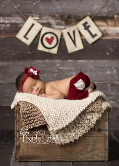 Newborn Girl Valentine's Day Photography