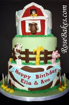 Check out this Farm Animals Cake plus matching Cake Pops!!
