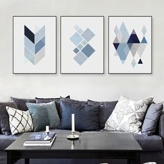 Cheap art print poster, Buy Quality wall pictures directly from China print poster Suppliers: Modern Abstract Geometric Shape Art Print Poster Blue Wall Picture Nordic Living Room Home Deco Canvas Painting No Frame Gift Geometric Shapes Design, Geometric Wall Art, Geometric Prints, Home Decor Paintings, Art Decor, Decor Ideas, Poster Wall, Poster Prints, Canvas Poster