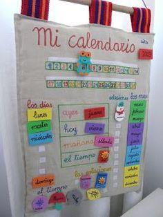 Vero me pidió que le cosiera una base de tela para hacer un calendario para que sus niños/as puedan aprender los días de la semana, los mese...