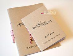 Livret de Cérémonie – Slubna   La Crafterie kraft ficelle rayée kraft wedding booklet with striped twine