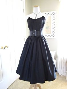 Check out this item in my Etsy shop https://www.etsy.com/listing/73603486/1950s-style-dress-vintage-style-dress