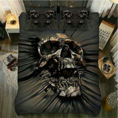 Skull decorate for your bedroom. Check our new sugar skull and skull bedding design now.