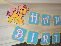 Little Pony Birthday Banner for My Little Pony Party by FeistyFarmersWife