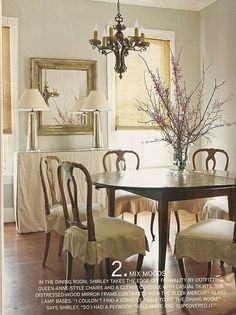 Slipcovers Dining Room Skirt Example Sewing Projects