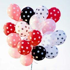 Blanco kaart - gekleurde-tros-ballonnen-met-stippen