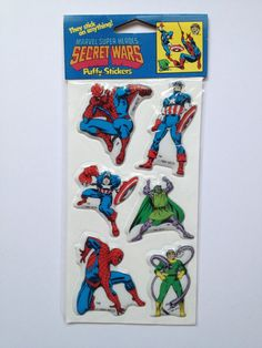 1984 Spider-Man Puffy Sticker Set Brand by WarpZoneCollectibles