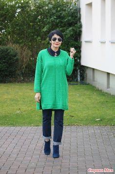 Туника из зеленой шерсти