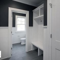 Black and White Mudroom Design