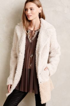 Fira Sherpa Coat - Anthropologie