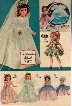 1953 Advert 6 PG Ideal Toy Doll Walking Bonnie Braids Cinderella Nun Hartline | eBay