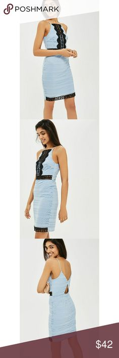 New topshop Blue black cutout crochet lace dress New topshop Blue black cutout crochet lace dress Topshop Dresses Midi
