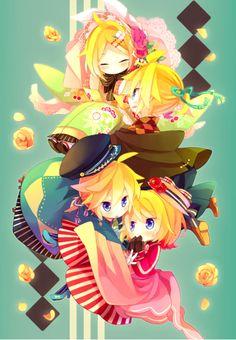 Rin and len Kagamine Rin And Len, Kaito, Hatsune Miku, Anime Chibi, Anime Manga, Anime Art, Vocaloid Characters, Mikuo, Otaku
