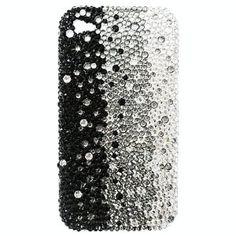 Swarovski Crystal Black White Ombre iPhone 3G Case