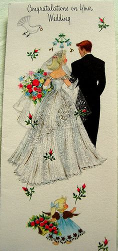 Vintage Wedding – How to create your perfect day Vintage Wedding Cards, Vintage Greeting Cards, Vintage Bridal, Vintage Postcards, Vintage Weddings, Vintage Pictures, Vintage Images, Perfect Day, Old Cards