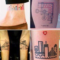 Cansei de CAD: Tatuagens e arquitetura