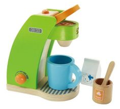 Hape - Playfully Delicious - Coffee Maker - Play Set -- if this isn't the cutest gift ever, we don't know what is.