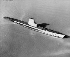 USS Charr departing Mare Island Naval Shipyard, California, United States,