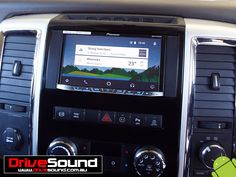 Dodge RAM with Android Auto installed at DriveSound. Android Auto, Ford Falcon, Car Audio, User Interface, Brisbane, Dodge