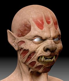 Concept for creature makeup.