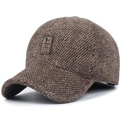 d85cbb42945 2016 brand baseball cap winter dad hat warm Thickened cotton snapback caps  Ear protection fitted hats