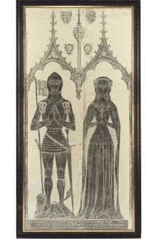Brass rubbing from England. Your grandmother Stevens had a female hanging in her den that she did while living in England. It is not allowed anymore. Wish you knew who the person was in the rubbing and where it is.