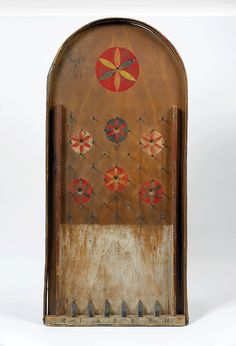 Decorative painting: Vagatelle Game Board, Pennsylvania, circa 1860