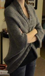 Free knitting pattern for Easy Speckled Shrug