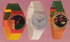 Swatch Watches - 80s Fashion and Beauty, Watches   Stuff from the 80s
