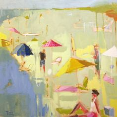 Love the beach paintings from Teil Duncan