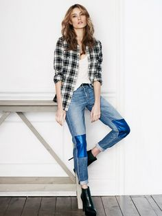 Meet the Metallic Jeans We're Swooning Over Right Now via @WhoWhatWear