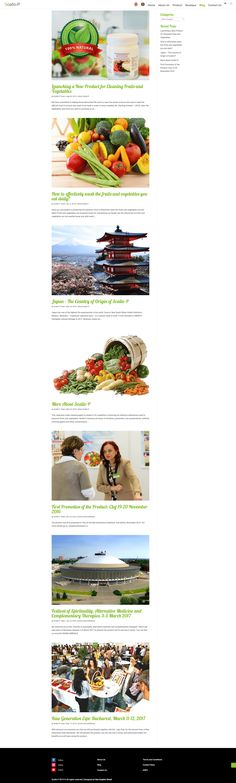 Web Design - Blog for cleaning fruits and vegetables and eating healthy 🍊🌶. Website Structure, Layout Design, Web Design, Tricky Questions, Website Features, Accent Colors, Eating Healthy, Case Study, How To Find Out