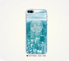 Blue #iPhone #case 5 iPhone case 4 nyc iPhone case 5 iPhone case 4 romantic iPhone case iPhone 5 or 4/4s Case iPhone case. $25.00, via Etsy.