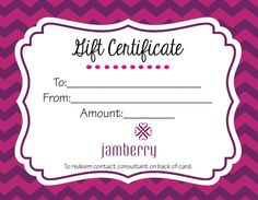 Jamberry Nails gift certificate in chevron, instant download $3