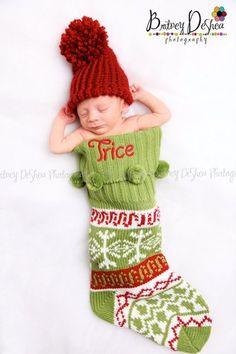 Newborn Infant Baby Unisex Christmas Knit Crochet Pom Hat Photography Prop | eBay