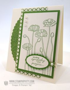 Stampin up stampinup pretty order online pleasant poppies oval punches framelits sympathy card ideas