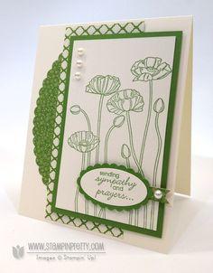 pleasant poppies, petite pairs - stampin' up!