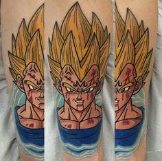 Majin vegeta Dragon Ball Z, Z Tattoo, Dbz, Tatoos, Tattoo Ideas, Sleeve, Tattoos, Dragon Dall Z, Manga
