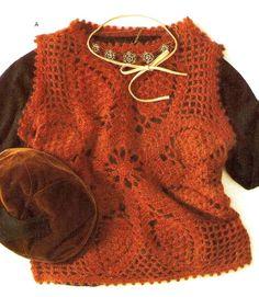 Crochet vest ♥LCT-MRS♥ with diagram