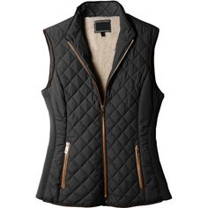 LE3NO Womens Lightweight Quilted Puffer Jacket Vest ($29) ❤ liked on Polyvore featuring outerwear, vests, puffer jacket, vest waistcoat, quilted puffer jacket, zip up vest and pocket vest