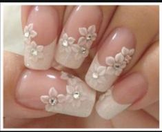 70 top bridal nails art designs for next year is part of Bride nails - 70 Top Bridal Nails Art Designs for next year Beautifulart Nailart 3d Nail Designs, French Nail Designs, Crazy Nail Designs, Trendy Nail Art, 3d Nail Art, Bridal Nail Art, Bridal Nails French, Nail French, French Polish