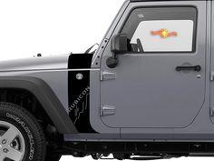 PAIR Fender Hood Window Wrangler Renegade TJ YJ LJ JK Jeep w// Skull Decals