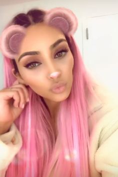Thinking Pink: Kim Kardashian West Dyes Her Hair After Announcing She Was 'Over' Being a Blonde