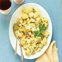 Roasted Cauliflower Popcorn by wegmans: Toss cauliflower with seasoned basting oil, roast and sprinkle with Parmesan for an easy, healthy, and tasty snack. #Cauliflower #Cauliflower_Popcorn #wegmans